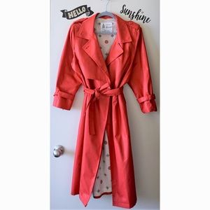 VTG London Fog 80s Classic Red Trench Rain Coat 6P